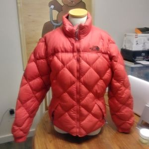 Red The north face puffer jacket